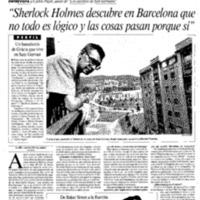 """""""Sherlock Holmes descubre en Barcelona que no todo es lógico y las cosas pasan porque sí"""""""