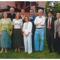 Carlos Pujol con otros profesores de la Facultad de Humanidades de UIC Barcelona
